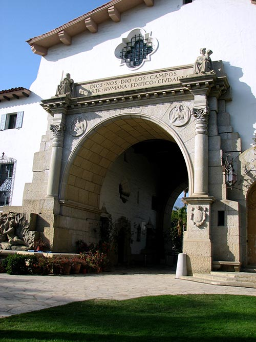 Santa Barbara Courthouse entrance